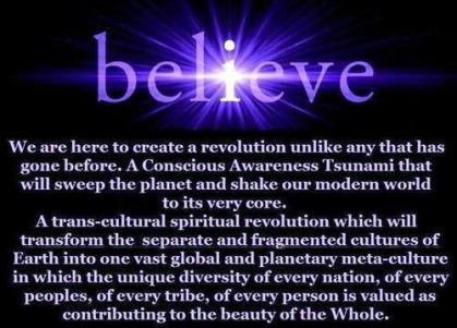 believe -we are here to crate a revolution
