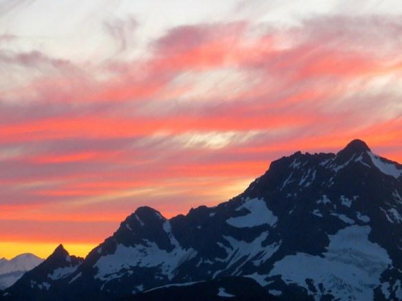 Sunset over Jack Mtn.