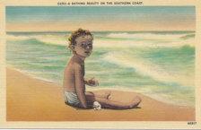 On The Beach Children Play Shellfish