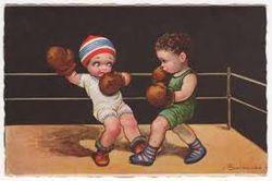 Boxer vintage postcard