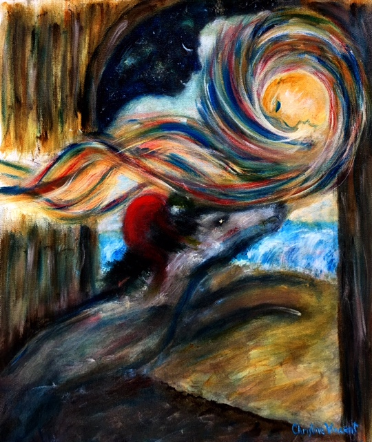 """9 PISCES - THE RACE BEGINS & 9 VIRGo - AN EXPRESSIONIST PAINTER"" BY WISE OWL CHRISTINE"