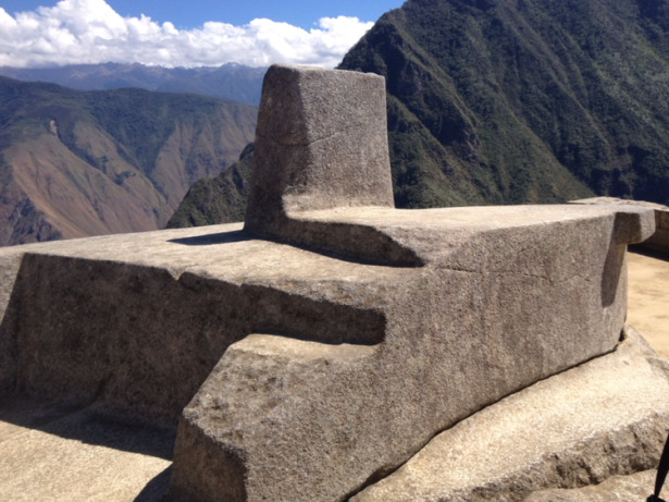 sun stone at machu picchu, peru taken by wise owl chalotte