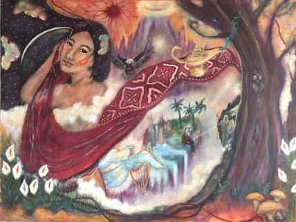 """""""THE magic carpet of oriental imagery"""" 19 aries - by wise owl Christine vincent"""