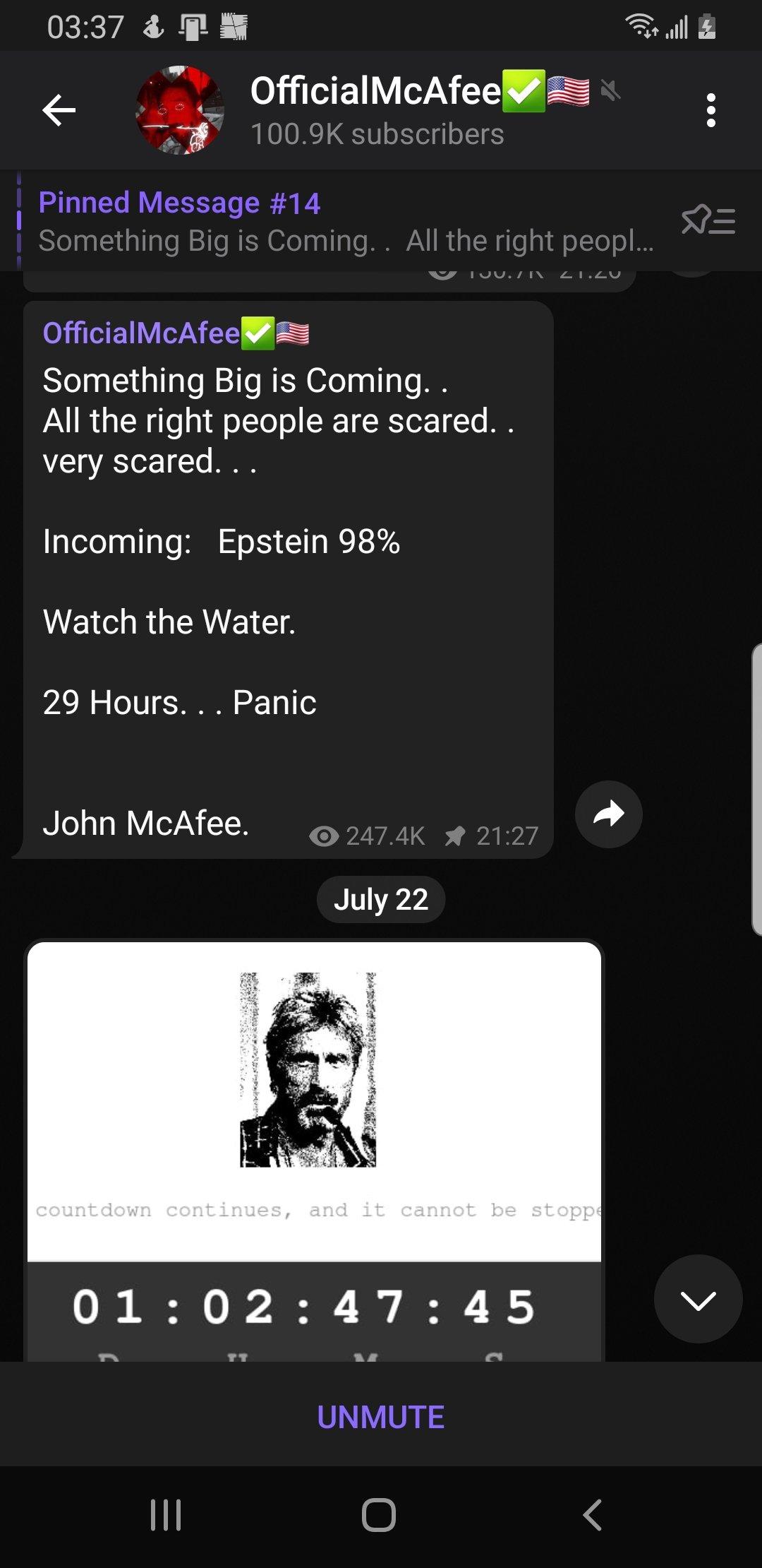 John McAfee drops pending Screenshot_20210723-033732_telegram7468126194648562963